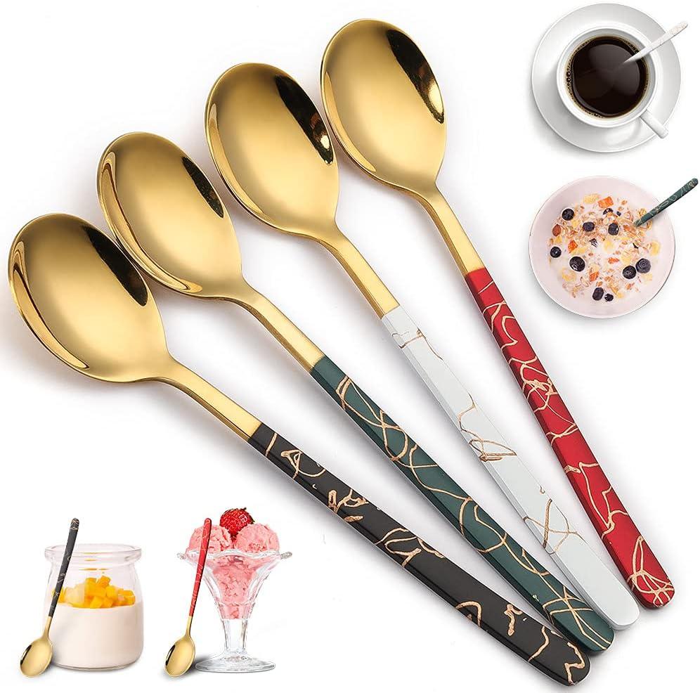 Teaspoons Gold Set of 4 Minneapolis Mall Small Spoons 6.5