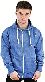 Parsa Fashions Mens Classic Plain Zip Hoodie Zipper Adult Top