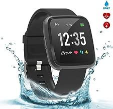 BingoFit Legend Smart Watch Fitness Activity Tracker 1.3'' IPS Color Screen Fitness Watch with Blood Pressure Oxygen Heart Rate Sleep Calorie Monitor Pedometer Watch for Women Men Kids-Black