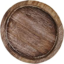 KESYOO Natural Wood Metal Candle Holder Tray Home Round Candle Tray Simple 3 Wick Candle Holder Decor for Desktop/Bathroo...