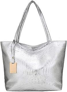 حقائب السيدات الجديدة ليزر هولوغرام جلد حقيبة الكتف حقيبة تسوق واحدة سعة كبيرة حقيبة يد عادية