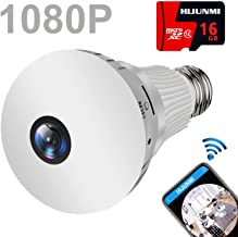 Light Bulb Camera Wifi 1080P HD 360 Fisheye Wireless Security Camera Home LED Light..