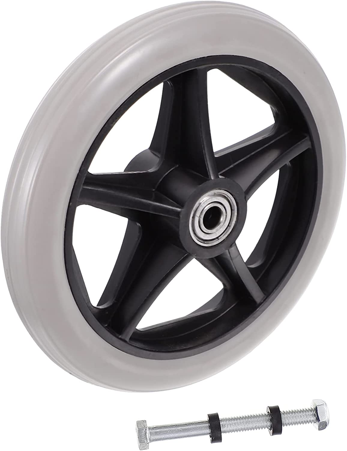 EXCEART 6 Inch Solid Black wholesale Caster Mail order cheap Wheel Replacement Wh for Parts