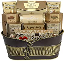 Canada Gift Baskets Supreme Pirouline Chocolate Truffles Meltaways Twists Gold - A Christmas Gift Send with Your...