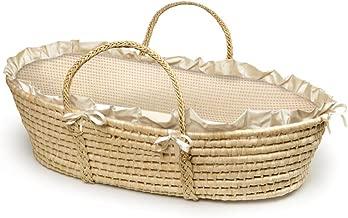 Badger Basket Natural Moses Basket with Gingham Bedding