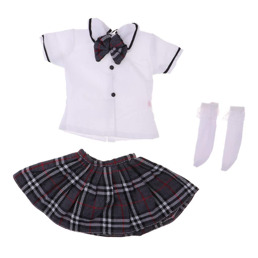 School Uniform Shirt Skirt  For Female 1//3 24in 60CM BJD SD AOD DOD Doll LUT