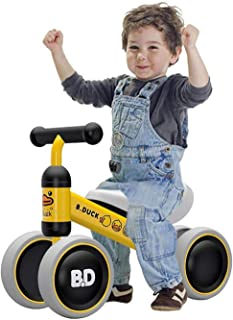 Baby Balance Bike Children Walker Sliding Cute Yellow Duck Bicycle with 4 Wheels Gift for Kids