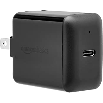 AmazonBasics 15W One-Port USB-C Wall Charger for Tablets and Phones - Black