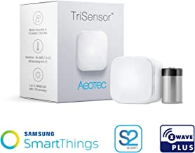Aeotec TriSensor, Z-Wave Plus S2 Enabled Zwave Motion Sensor, Temperature, Light Sensor, Work with Zwave Hub Smartthings 3-in 1 Security System, Battery Powered