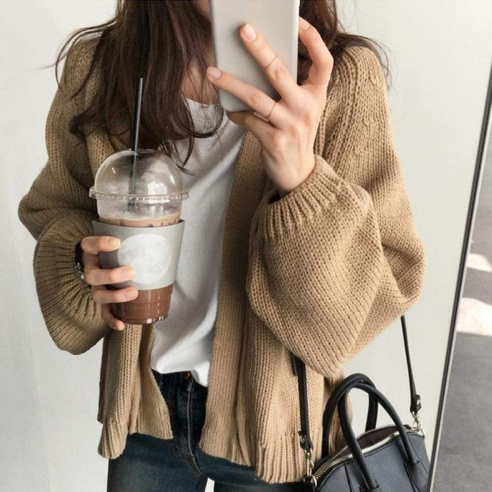 SYXMSM Sweater Cardigan Women s Solid K Super beauty San Jose Mall product restock quality top Loose Coat