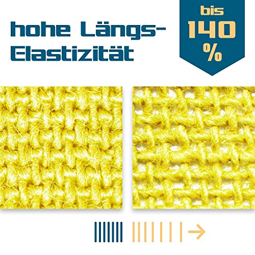 SL StarTape Kinesiologie Tape 6er Set inklusive Schere – Sporttape Rollen 5 cm breit und 550 cm lang – Pflaster Tapes - 3