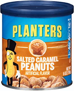 Planters Salted Caramel Peanuts (6 oz Canisters, Pack of 8)