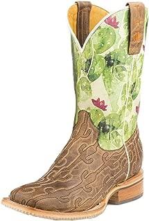 Tin Haul Ladies Cacstitch Square Toe Boots