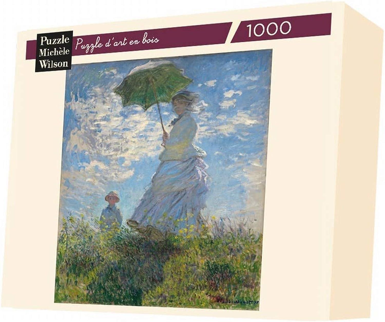 Puzzle 1000 pièces - Puzzle en Bois - Claude Monet   La Femme à l'Ombrelle, 1875