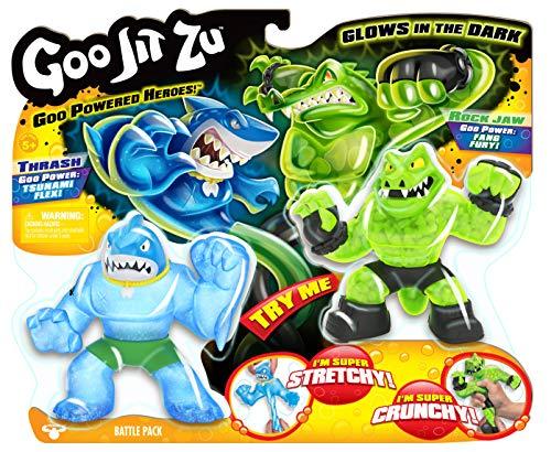 Great Games Goo Jit Zu GJT02000 Battle Pack 2 Heroes, Assorted Models, Multicoloured, 13 cm, 1 Pack