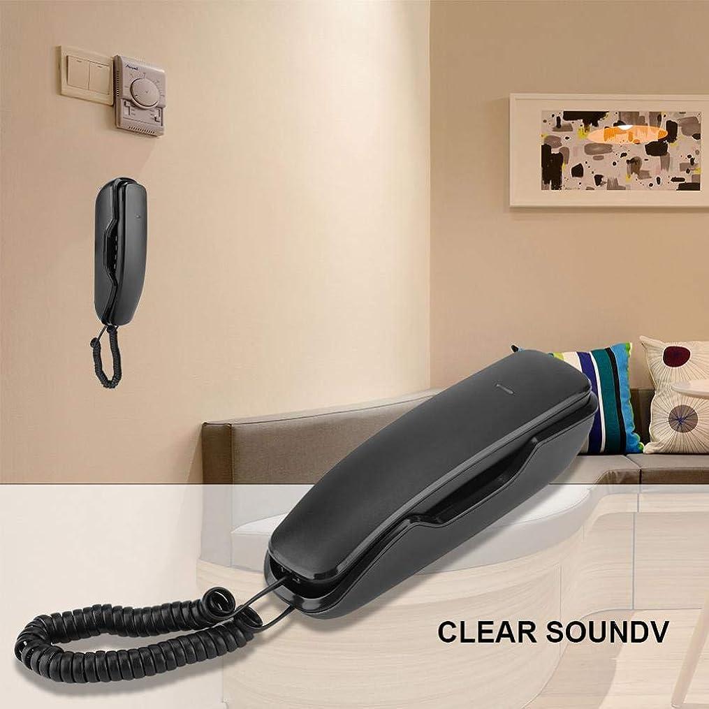 売る醜い味付けコード付き電話、ノイズキャンセリング壁の最後の番号リダイヤルホームオフィスホテル用壁掛け電話(黒)
