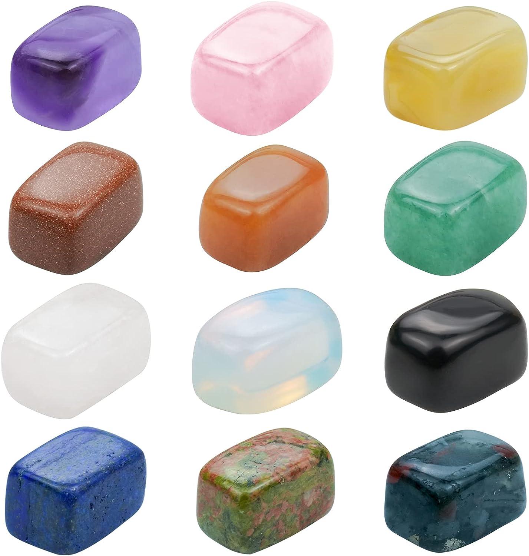 Rbenxia 12 Chakra Stones Healing Natural Crystals Max 80% OFF Special price Polish Tumbled