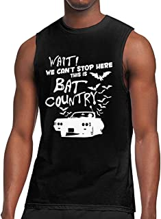 We Can't Stop Here This is Bat Country Men's Classic Jersey Sleeveless T-Shirt Activewear Muscle Tank Tops