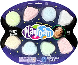 Learning Resources Playfoam Glow-in-the-Dark 8-Pack ,Multicoloured,EI-1909