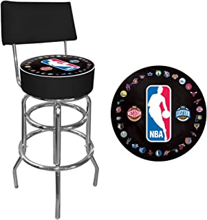 NBA Padded Swivel Bar Stool with Back