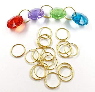 DERA 100pcs 11mm 304 round stainless steel ring for Chandelier, Curtain,Suncatchers, Crystal Garland,Necklaces, Earrings, ...
