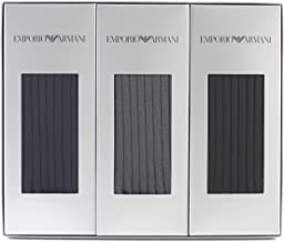 (エンポリオアルマーニ)EMPORIO ARMANI メンズ リブ クルーソックス 3足組 ギフトセット 父 彼氏 プレゼント プレゼント giftset EA-3P