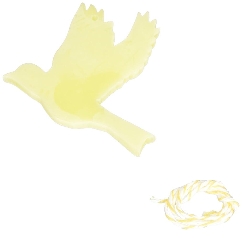 ボリュームラフ睡眠成長するGRASSE TOKYO AROMATICWAXチャーム「ハト」(YE) ベルガモット アロマティックワックス グラーストウキョウ