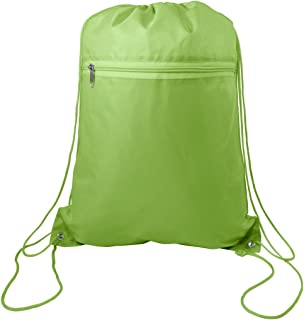 Drawstring Polyester Backpack with Front Pocket (Single)