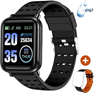 ANCwear Fitness Tracker Watch Activity Tracker with Heart Monitor and Blood Pressure, Waterproof Bluetooth Smart Watch with Sleep Monitor & SMS Call Notification, Pedometer Watch for Men Women Kids