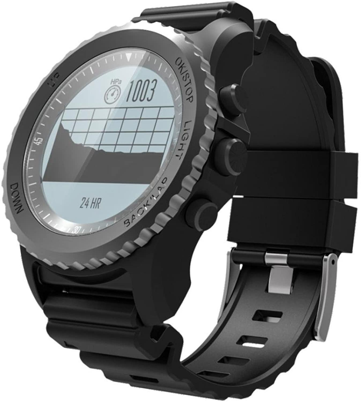 Fulltime Triathlon  GPS professionelle Sportuhr,GPS,Mehrere Sportmodi, IP68 Profi wasserdicht (Schwarz)