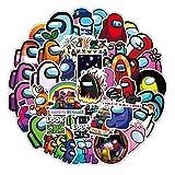ADosdnn 50PCS Juego Caliente Entre Nosotros Etiquetas portátil Estética Motocicleta del Coche del Animado Pegatina Lindo Juguetes for los niños Pegatinas de Graffiti (Color : 50 PCS)
