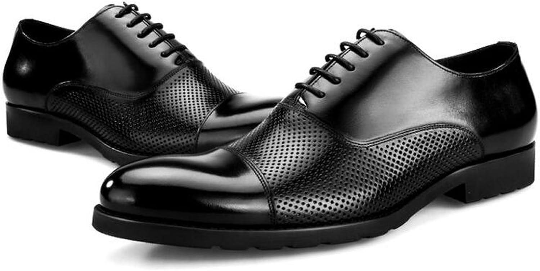QARYYQ Décontracté Chaussures Pointues Affaires Sandales en Cuir Creux Chaussures habillées Respirant Hommes 39-44 Verges Bottes en Cuir pour Hommes (Couleur   noir, Taille   39 EU)