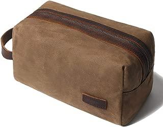Shaving bag Dopp kit Leather Toiletry Bag for Men - Overnight bag Hanging Canvas Travel Size Toiletries