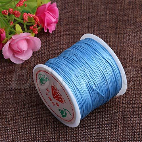 SKYVII 0,8 mm hilo de nylon nudo chino macramé Rattail pulsera trenzado cadena 45 m