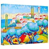 Art Wall 'Greece by The Sea' by Susi Franco Gallery Wrapped Canvas Artwork, 24 by 36-Inch