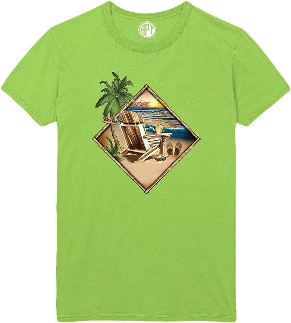 Palms Beach Chair Sand Surf Paradise Found Printed T-Shirt