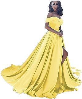 Prom Dresses Long Split Off Shoulder Ball Gowns for Women Formal Wedding Evening Dress