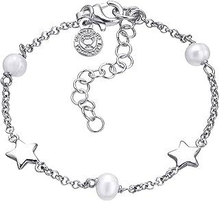 Duran Exquse Pulsera colección Mi Primera Joya realizada en Plata 925 Detalle en perlitas con Forma de Estrella