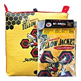Morrell Yellow Jacket Supreme 3 Field Point Adult Archery Bag Target Replacement Cover with 2 Shooting Sides, 10 Bullseyes, and Carry Handle, Yellow