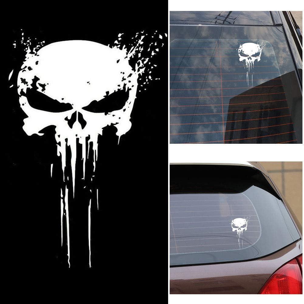 Fesjoy Punisher Skull Blood Vinyl Auto Aufkleber Aufkleber Motorräder Dekoration Punisher Schädel Aufkleber Baumarkt