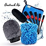 Onetrack Me Motorcycle Detailing Brush Kit- 6 Pack - Natural...