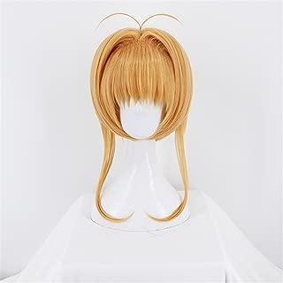 Anime Card Captor Sakura Clear Card Blonde Cosplay Wig Women Girls' Party Wigs