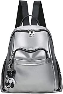 COAFIT Women's Backpack Vintage Glossy Bookbag School Bag