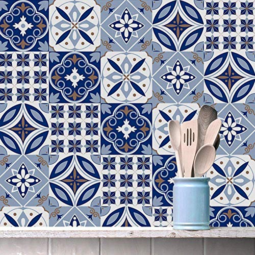 Lsaardth Pegatinas de Azulejos -10 Piezas de PVC Impermeable Pegatina de Azulejos para Suelo Pegatina de Pared Arte decoración de Fondo de habitación en casa