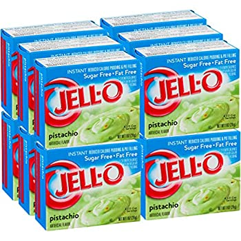 Jell-O Sugar-Free Pistachio Instant Pudding Mix 1 Ounce Box  Pack of 12