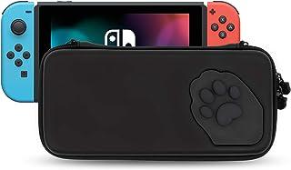 جراب GeekShare Cat Paw لجهاز Nintendo Switch - حقيبة حمل رفيعة للسفر محمولة مناسبة لوحدة التحكم وإكسسوارات الألعاب - حزام ...