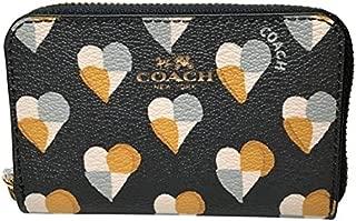 Coach Checker Heart Print Mini Card Case Midnight F25844