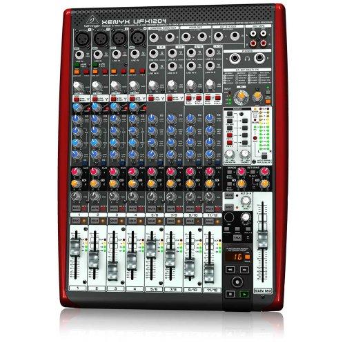 BEHRINGER, UFX1204 Premium 12-Input 4-Bus Mixer with 16X4 Firewire Interface 16-Track USB Recorder Black