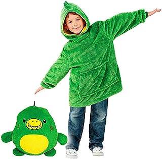Couverture d'enfant Sweat Huggle Pets Hoodie Les Animaux en Peluche Se transforment en Sweat à Capuche surdimensionné avec...