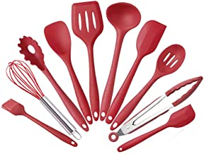 Agzsovep 10PCS Silicone Cooking kitchenware Spatula Baking Gadgets